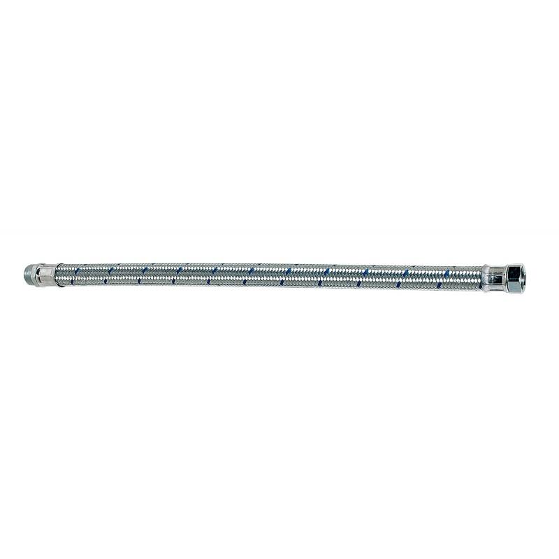 """Flexibles eau froide tresse acier galvanisé type 65 T (sans coude) 1"""" 300 mm"""