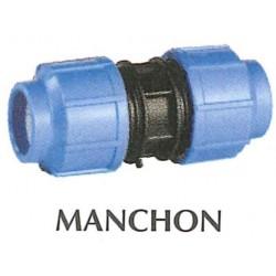 Raccords polypropylène manchon 63