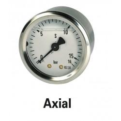 Manomètre axial diam 63 0-10 bars à bain de glycérine