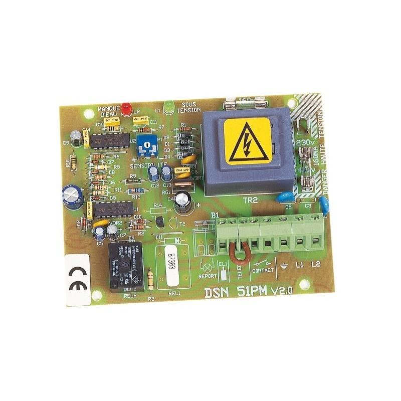 Coffret protection moteur et de surveillance de niveaux DSN 51 PM en carte