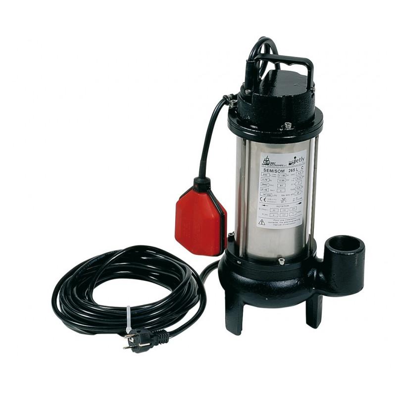 Pompe SÉMISOM 250 AUTO verticale pour eaux chargées