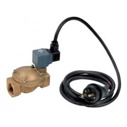 """Electrovanne laiton 2 voies 230V 1"""" + câble"""