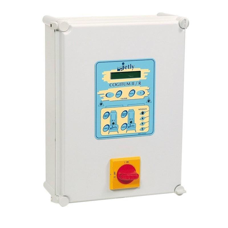 Coffret de commande et de protection électrique COGITUM II R/10 pour 2 pompes de relevage.
