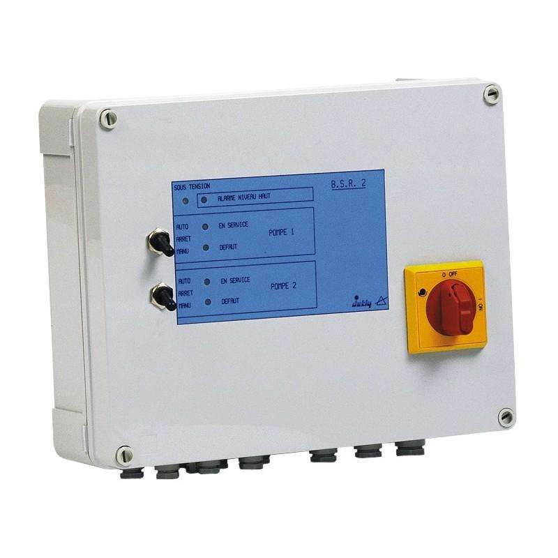 Coffret de commande et de protection BSR 2 de 2 pompes de relevage