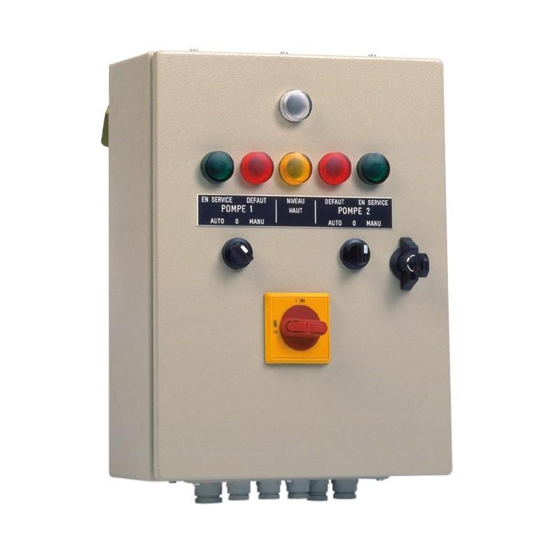 Armoire de commande et de protection CSR 2 M 6/10 A de 2 pompes de relevage